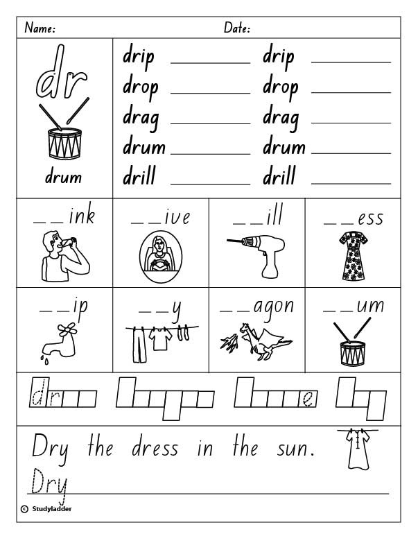 initial sound worksheets