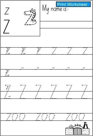 letter z handwriting