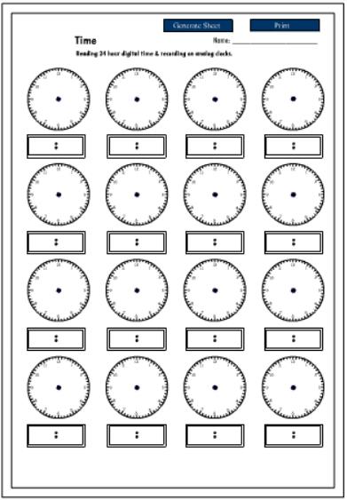 printable 24 hour clock new calendar template site. Black Bedroom Furniture Sets. Home Design Ideas