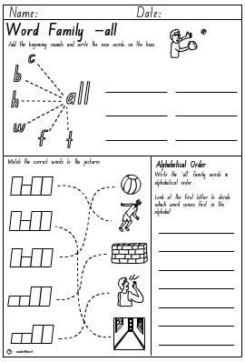 number names worksheets  word families worksheet  free printable  &