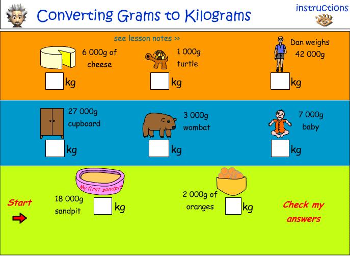 Grams And Kilograms For Kids - Laptuoso