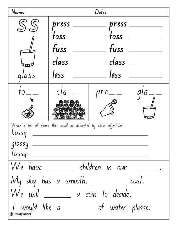 spelling worksheets 2nd grade