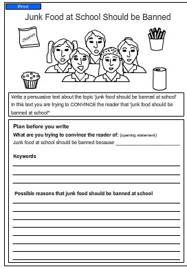 persuasive essay on junk food in schools Fast food in schools persuasive essay persuasive essay nation most schools sell junk food to students reasons to remove junk food from school lunch menus.