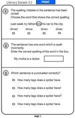 literacy homework year 5