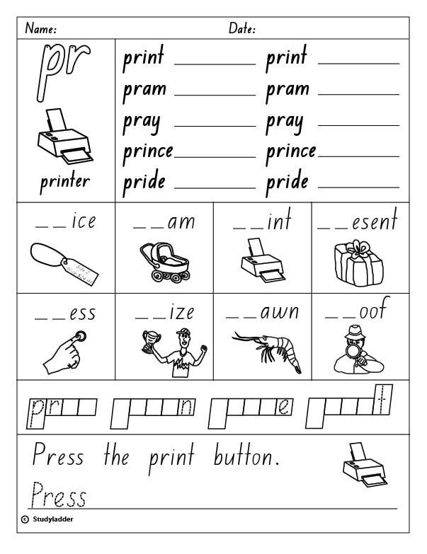 Consonant Blend u0026quot;pru0026quot;, English skills online, interactive ...