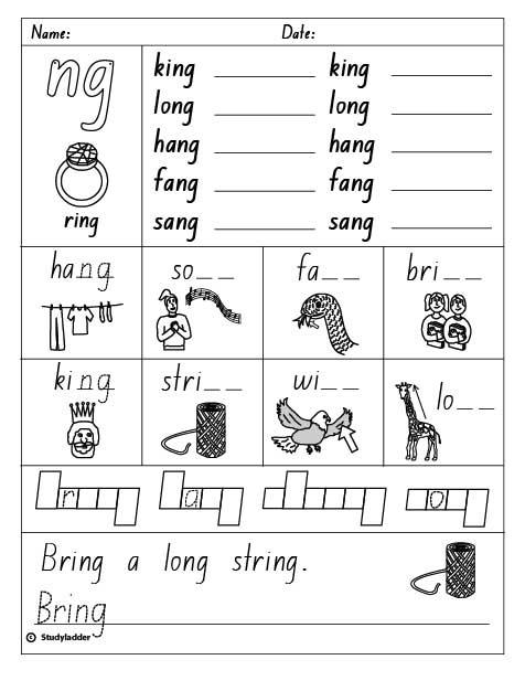 Final Consonant Digraph u0026quot;ngu0026quot;, English skills online ...
